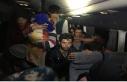 TEM'de durdurulan araçta 40 kaçak göçmen...