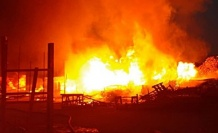 Kereste fabrikasında yangın!