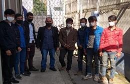 TEM'de durdurulan 2 araçta 8 kaçak göçmen...