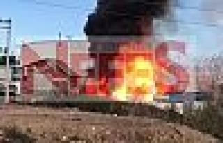 Gebze Balçık Köyünde Fabrika Yangını !