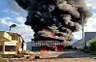 Kullanılmayan fabrika deposunda yangın çıktı!