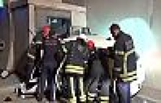 TEM Gültepe tünelinde kaza;3 yaralı!