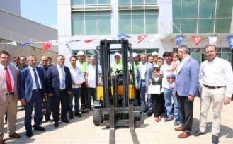 Forklift operatörleri sertifikaları aldılar