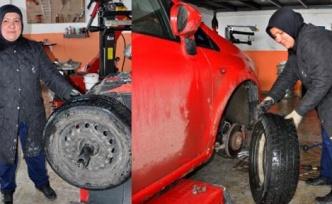 KOSGEB kredisi ile oto lastik tamirhanesi açtı