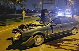 İstanbul'da polisten kaçan sürücü Kocaeli'de kaza yaptı