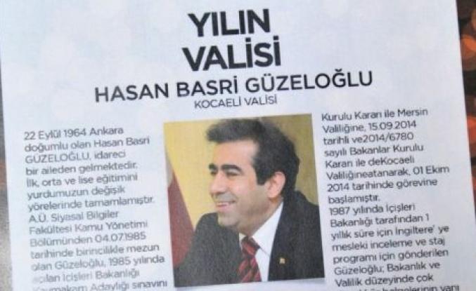 Güzeloğlu, yılın valisi seçildi