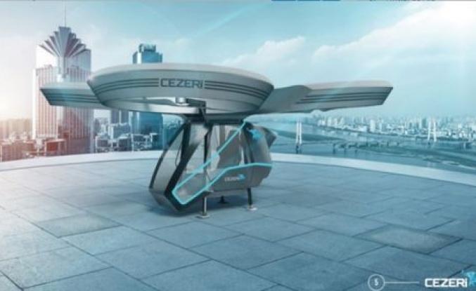 İşte yerli uçan otomobil ''CEZERİ''den ilk kareler!