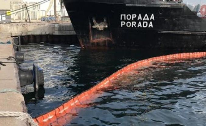 Kocaeli'de denizi kirleten gemiye 1,2 milyon lira ceza!